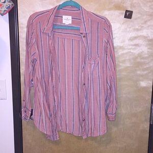 Button up oversized shirt